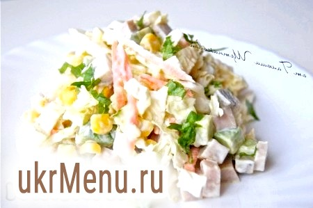 Салат овочевий з бужениною