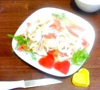 Фото - Крок №7 - Прикрашаємо сердечками з болгарського перцю і зеленью.Пріятного апетиту!