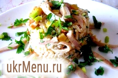 Салат з авокадо і кальмарами