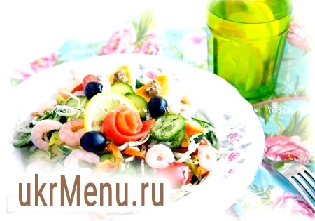 Салат з авокадо і капустою