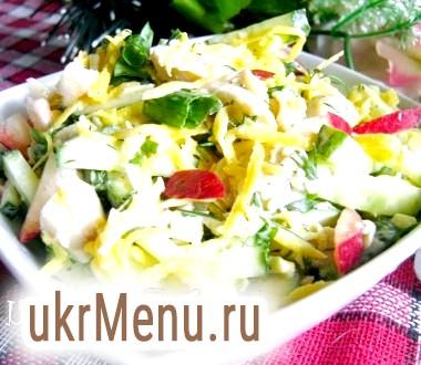Салат з консервованим кальмаром