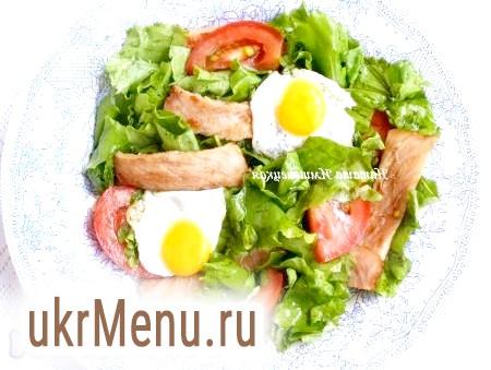 Салат з перепелиними яйцями і помідорами