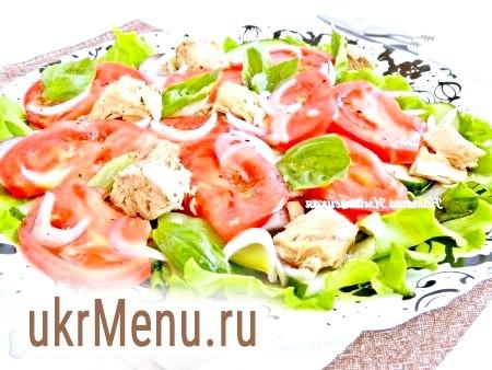 Салат з тунцем і овочами