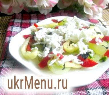 Салат з виноградом і болгарським перцем