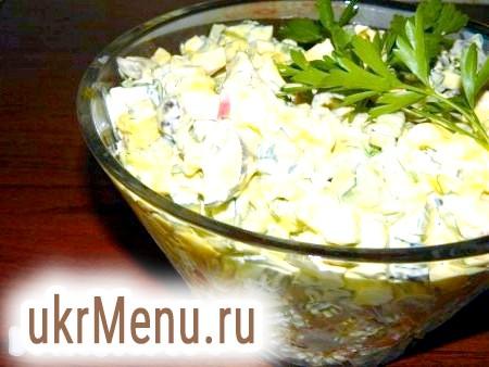 Салат зі свіжими грибами