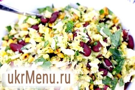 Фото - Салат з пекінської капусти та кукурудзи