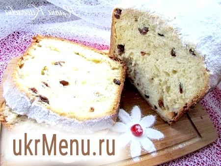 Здобний кекс з родзинками в хлібопічці