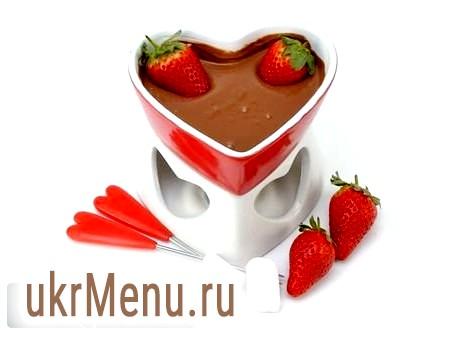 Шоколадне фондю на день святого валентина