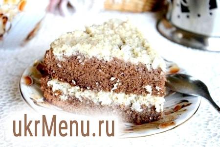 Шоколадний торт з кокосовою стружкою
