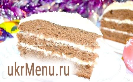 Шоколадний торт в мультиварці