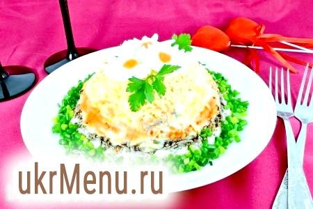 Листковий салат з печінкою