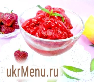 Сорбет з полуниці