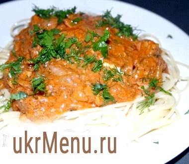 Спагетті з консервованим тунцем