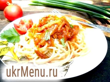 Спагетті зі свининою