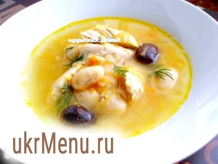 Суп квасолевий з куркою
