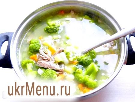 Суп з капусти брокколі