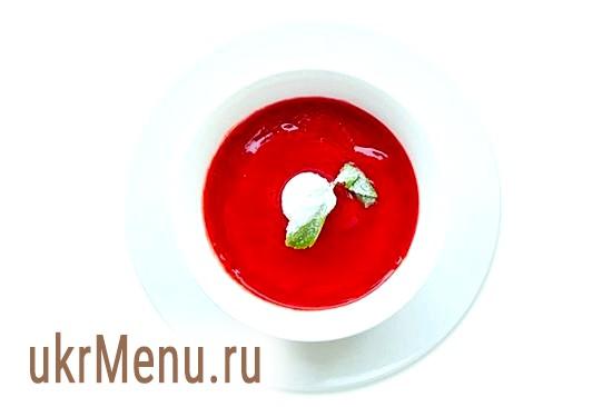 Суп з волок із заправкою