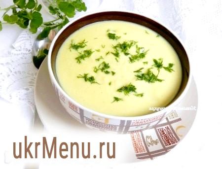 Суп-пюре з кабачків з плавленим сиром