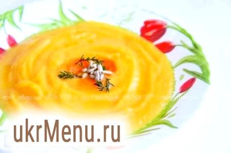 Суп-пюре з гарбуза і кабачка