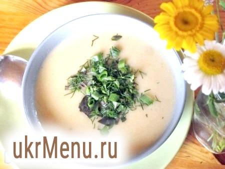 Суп-пюре з кольоровою капустою і сиром