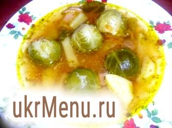 Суп з брюссельською капустою