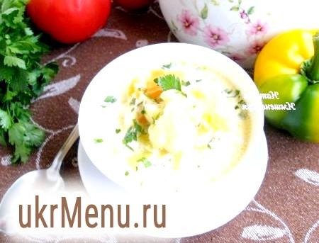 Суп з цвітною капустою і кабачком