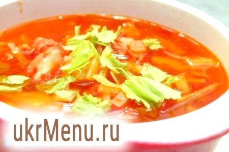 Суп з копченою ковбасою та овочами