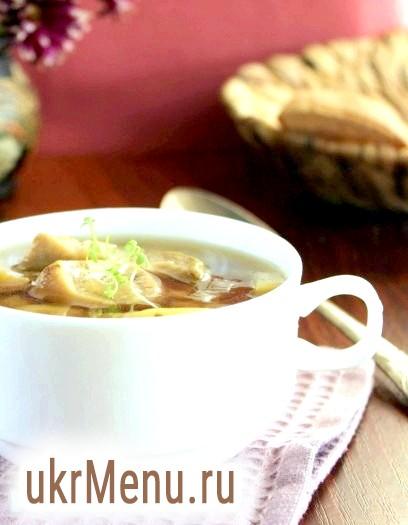 Суп з перловкою і грибами