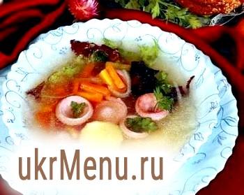 Суп з сардельками
