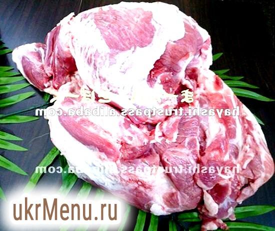 Свиняча вирізка в ковбасній оболонці