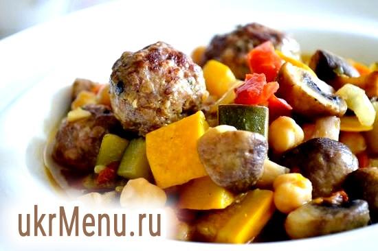 Свинячі фрикадельки з овочами