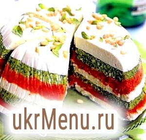 Ситний торт primo capitano - з в'ялених томатів і песто до 23 лютого