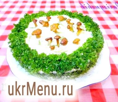 Торт закусочний Грибна галявинка
