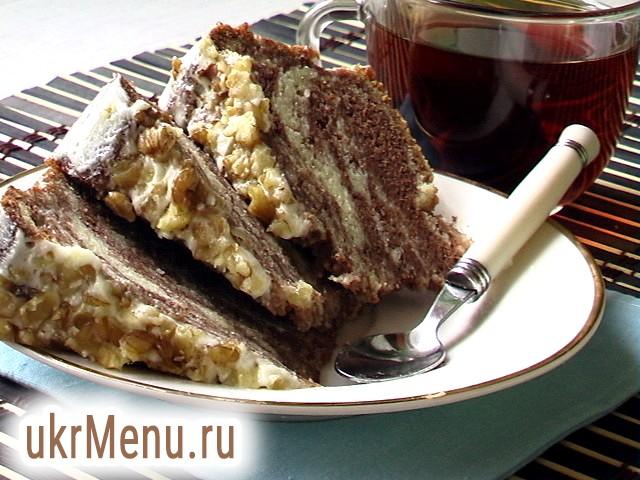 Торт Зебра рецепт з фото