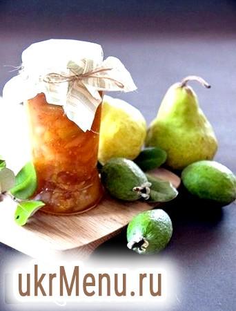 Варення з фейхоа з медом і волоськими горіхами, рецепт з фото