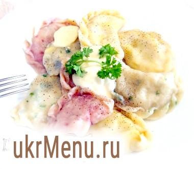 Вареники кольорові з картоплею та грибами