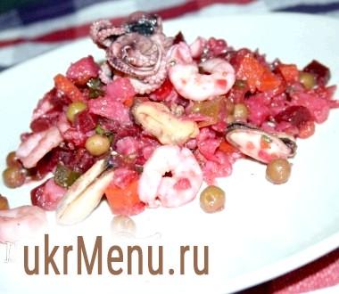 Вінегрет з морепродуктами