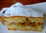 Смачний пиріг з яблуками з сирного тесту рецепт