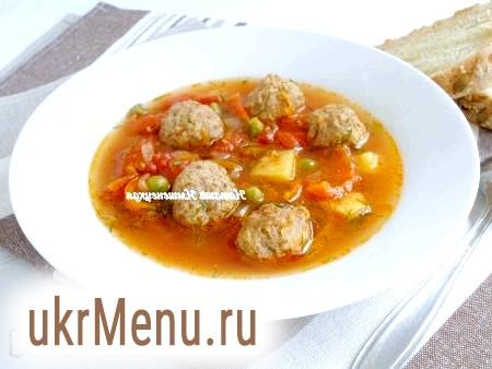 Смачний суп з фрикадельками