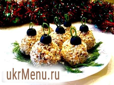 Закуска новорічні кулі - прикраса застілля