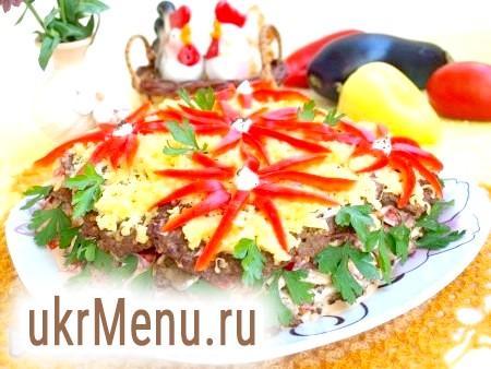 Закусочний торт з баклажановие дерунів
