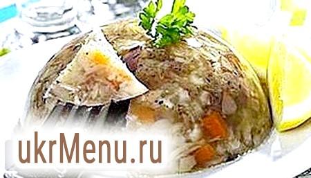 Заливне з м'яса - оригінальна холодна закуска