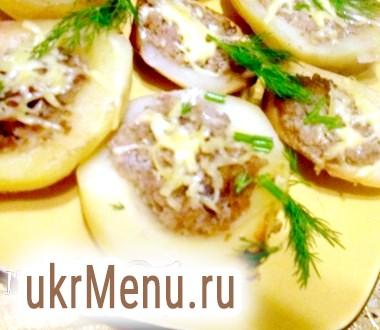 Запечений фарширований картопля