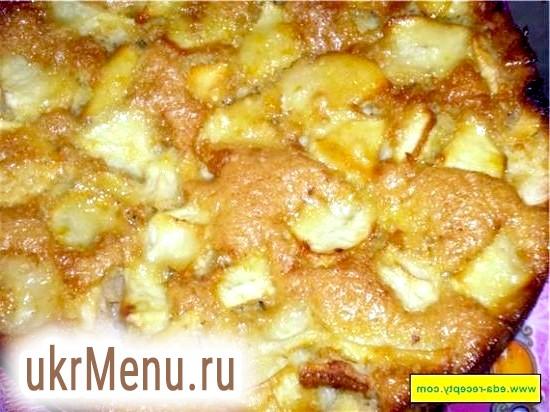 Запіканка з булочок з яблуками