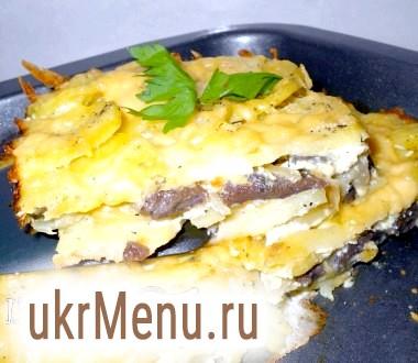 Запіканка картопляна з грибами