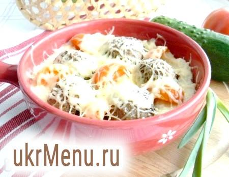 Запіканка з фрикадельками і картопляним пюре