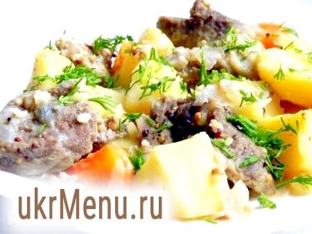 Печеня зі свинини з картоплею