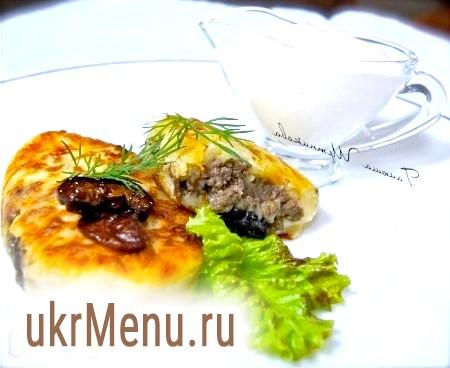 Зрази картопляні з м'ясом і грибами