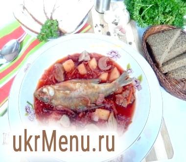 Борщ з грибами і карасями по-дніпропетровськи