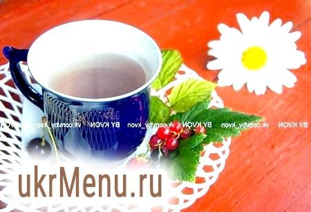 Чай з листя смородини і вишні